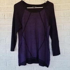 4/$25 ❤Purple and black 3/4 sleeve sweater